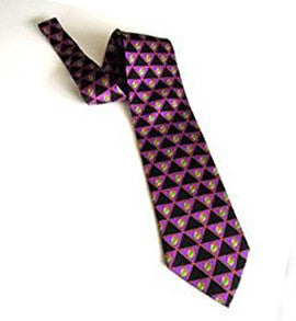 Pangborn Olive Martini Necktie in purple and black