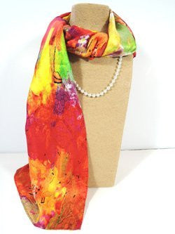 Pangborn Over the Rainbow XL Oblong Silk Scarf