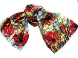 Painted Poppies XL Oblong Silk Scarf