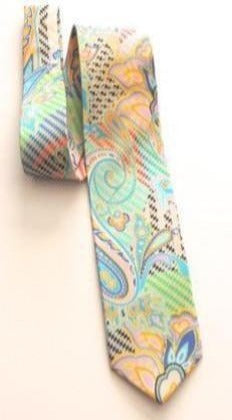 Pangborn Regal Blue Batik Silk Bow Tie