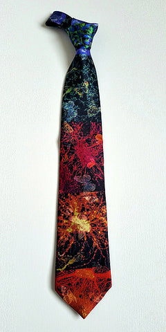 Prechter Bipolar Research Benefit Necktie - Stem Cells and Butterflies Symbolize Hope