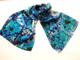 Pangborn Pools of Blue XL Oblong Silk Scarf