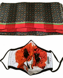 Poppies Face Mask - Silk Scarf Set