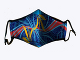 Primary Colors Mask - Lined Silk Scarf