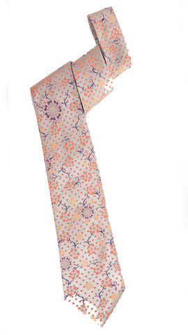 Pangborn Fleeting Woven Tie in taupe, orange, purple