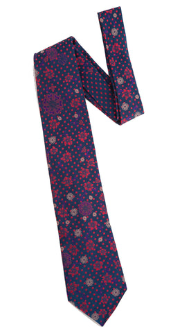 Pangborn Fleeting Woven Tie in navy, red