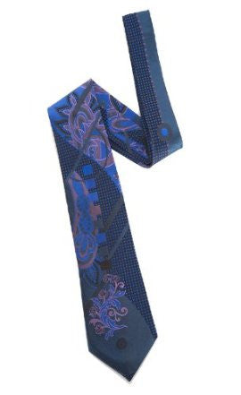 Pangborn Abundance Woven Tie in deep royal , black