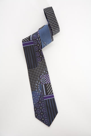 Pangborn Aerial Woven Tie in blue, gray