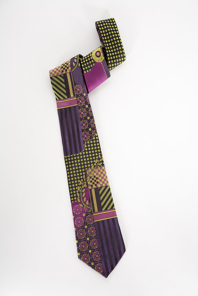 Pangborn Aerial Woven Tie in purple