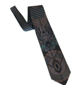 Pangborn Gray and Teal Vintage Tie