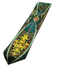Pangborn Shades of Green Vintage Tie