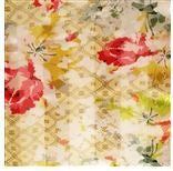 Soft Floral on Cream Silk Scarf