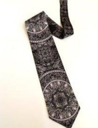 Pangborn Starry Night Vintage Tie in black/silver