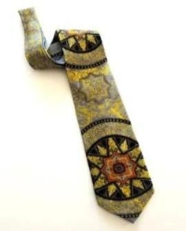 Pangborn Starry Night Vintage Tie in gold, black