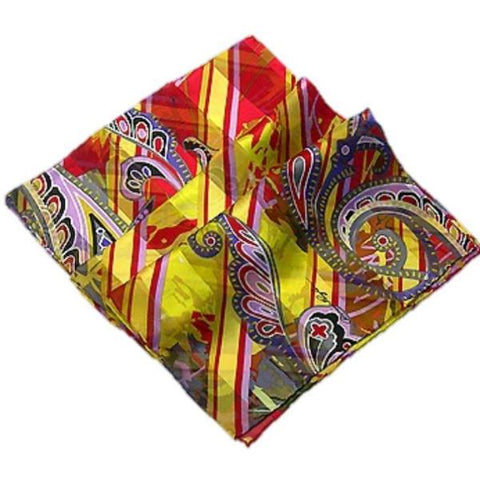 Upbeat Diagonals Silk Scarf