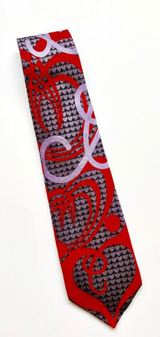 Heart Design Silk tie