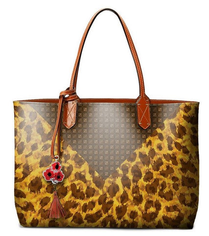Pangborn Handbag - Leopard Pattern on Brown