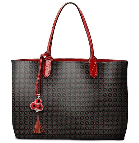 Pangborn Handbag - Red Logo on Black