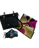 Paisley Face Mask, Handbag and Lined Silk Scarf