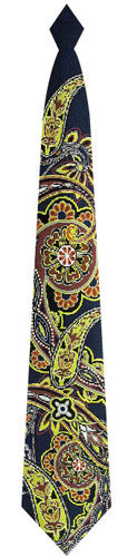 Pangborn Medallions woven Tie in navy blue