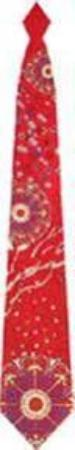 Fascination woven tie in red