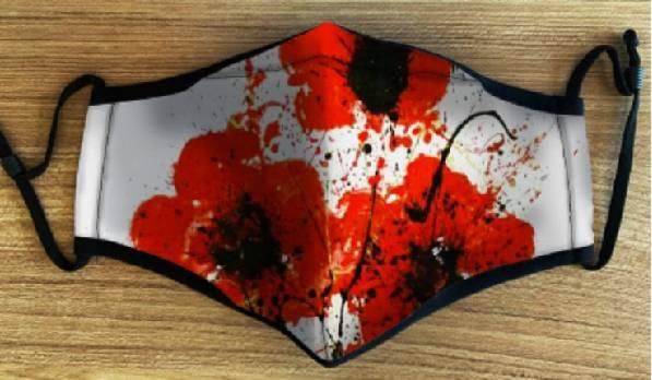 Poppies Face Mask