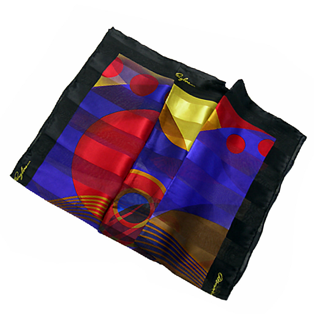 Setting Sun Square Silk Scarf