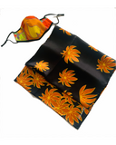 Sunny Hearts Mask - Orange Palms Silk Scarf