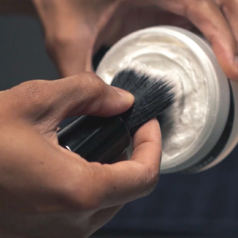 20mm Knot Premium Synthetic Shaving Brush - Tuxedo