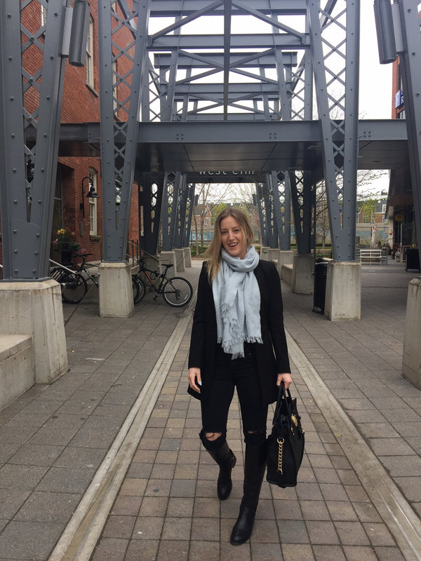 Exploring Liberty Village: OOTD Sleek Black Outfit