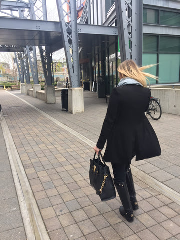 Girls Just Know, GJK, Toronto blogger, blogger, fashion blogger, Michael Kors purse, West Elm, Mildred's Kitchen, Louis Vuitton, Dex Jeans, Zara, zara blazer, black on black, how to be fashionable, business casual look, outfit of the day, Hailey Michaels, girlsjustknoww