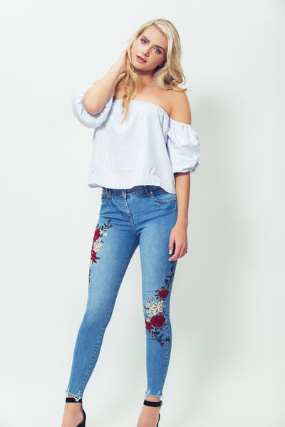 Girls just know, girlie clothing, cheap clothing, cheap clothes, date outfit, party outfit, affordable fashion, fun fashion, outfit of the day, ootd, cute, dresses, cute top, to, long sleeve crop top, la style, lux la, la lux, jeans, fun jeans, embroidery, embroidered jeans