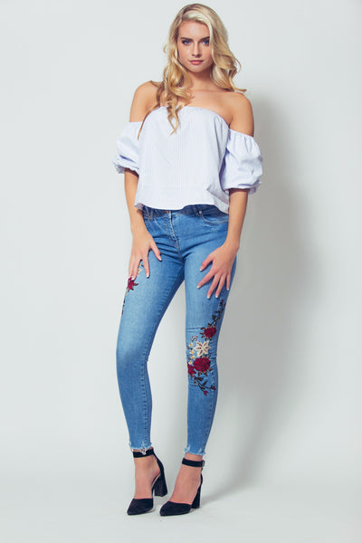 spring fling embroidered jeans girls just know