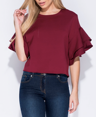 Pinstripe Bardot Paris Top