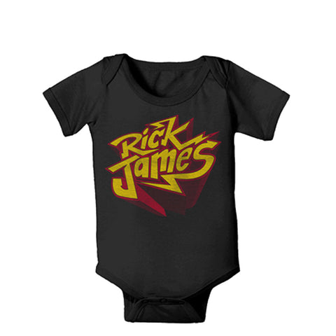 Rick James Bolt Onesie in Black