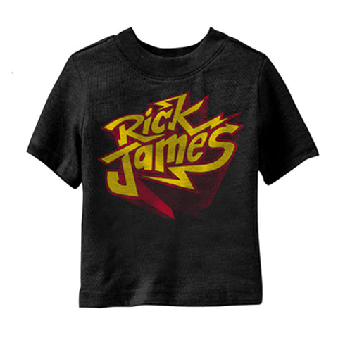 Rick James Bolt Youth T-Shirt in Black