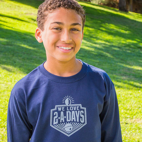 We Love 2-A-Days Long Sleeve T-Shirt for Kids