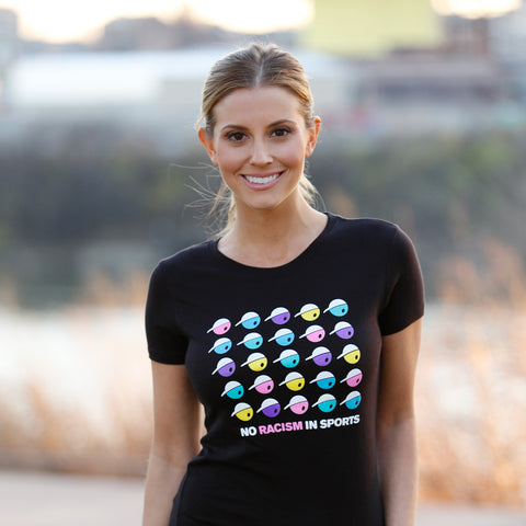 No Racism In Sports Mosaic T-Shirt for Women