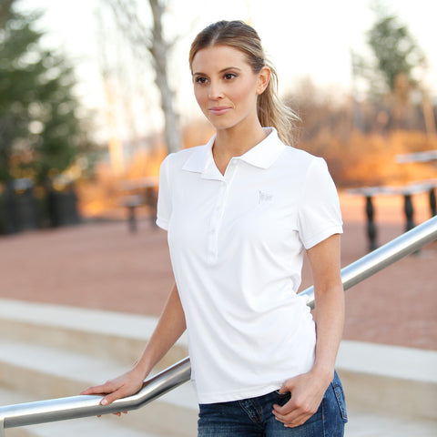 Oh Boy Pennant Golf Shirt for Women