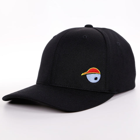 Oh Boy Sports Oh Face Hat in Black