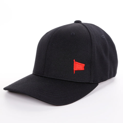 Oh Boy Solid Red Pennant on Black Hat