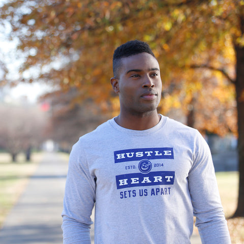 Hustle & Heart Long Sleeve T-Shirt for Men