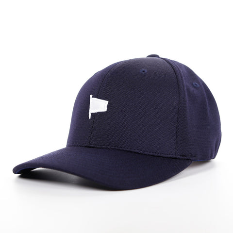Oh Boy Solid White Pennant on Navy Hat
