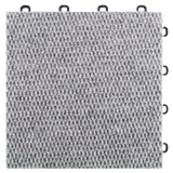 BlockTile B4US4620 Interlocking Carpet Tiles Premium, Gray, 20-Pack