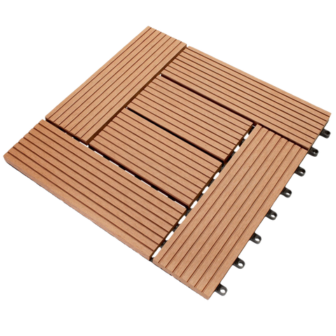 Boedika ST02SA1 B Bamboo Composite Interlocking Brown Deck Tile, 12-Inch by 12-Inch , 11 Tiles Per Carton 11 Square Feet