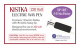 Electric Kistka Fixed Tip #4 Extra Heavy 220 Volt