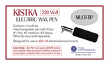 Electric Kistka Multi Tip Interchangeable 220 Volt