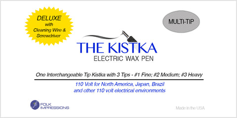 Deluxe Electric Kistka Multi Tip Interchangeable with 3 tips - 110 Volt (NA, Japan, Brazil)