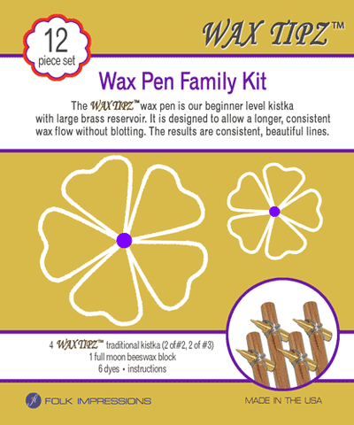 Wax Tipz Traditional Kistka Familyi Kit
