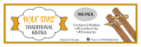 Wax Tipz Traditional Kistka 2 pack #2 Medium & #3 Heavy